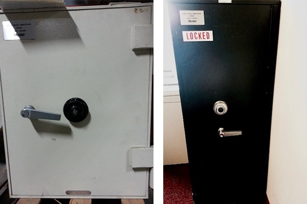 Two different types of safes