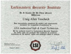 GSA-Authorized-Safe-Vault-Technician-Craig-Toocheck