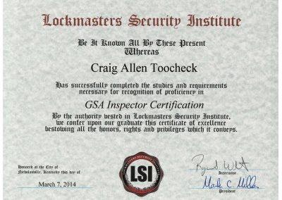GSA-Inspector-Certification-Craig-Toocheck