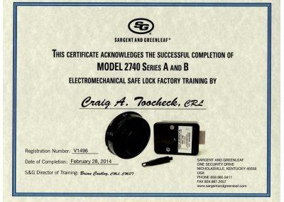 S&G Model 2740 Certified