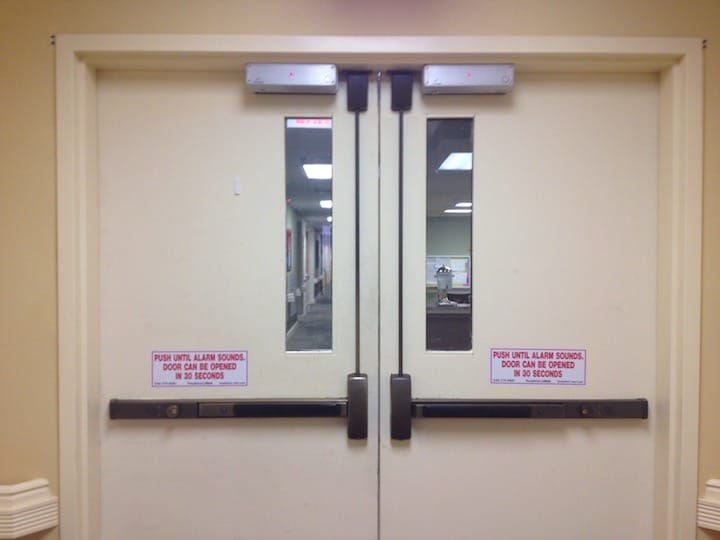 Picking a commercial door lock