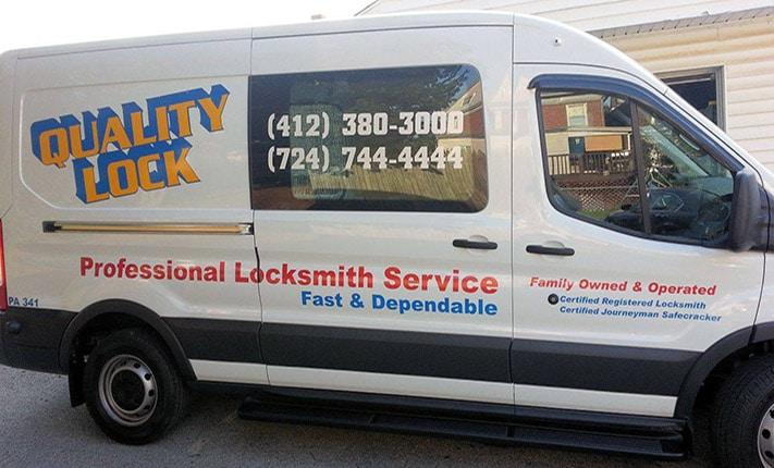photo of a Quality Lock Locksmith Van