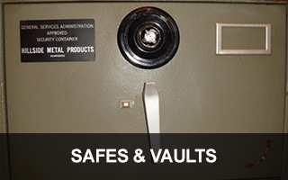 Image of a GSA certified safe. We provide Safes and Vault Locksmith Services