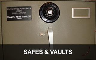 We provide Safes & Vault Locksmith Services